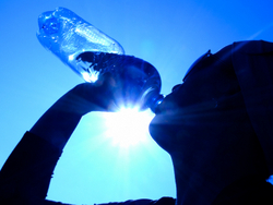 thirsty person silhouette   drinking  water  dehydrated  sun  bottle  exercise